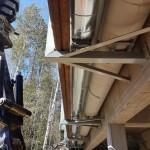 Tekemämme peltieristys Destian siltatyömaalla.